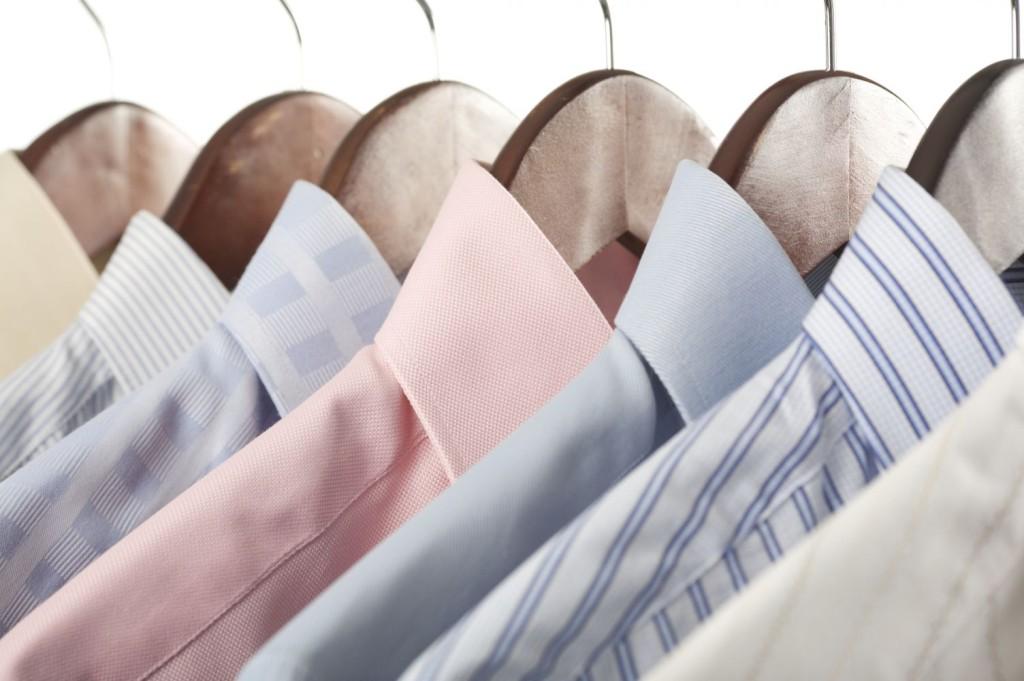 hanging collared shirts